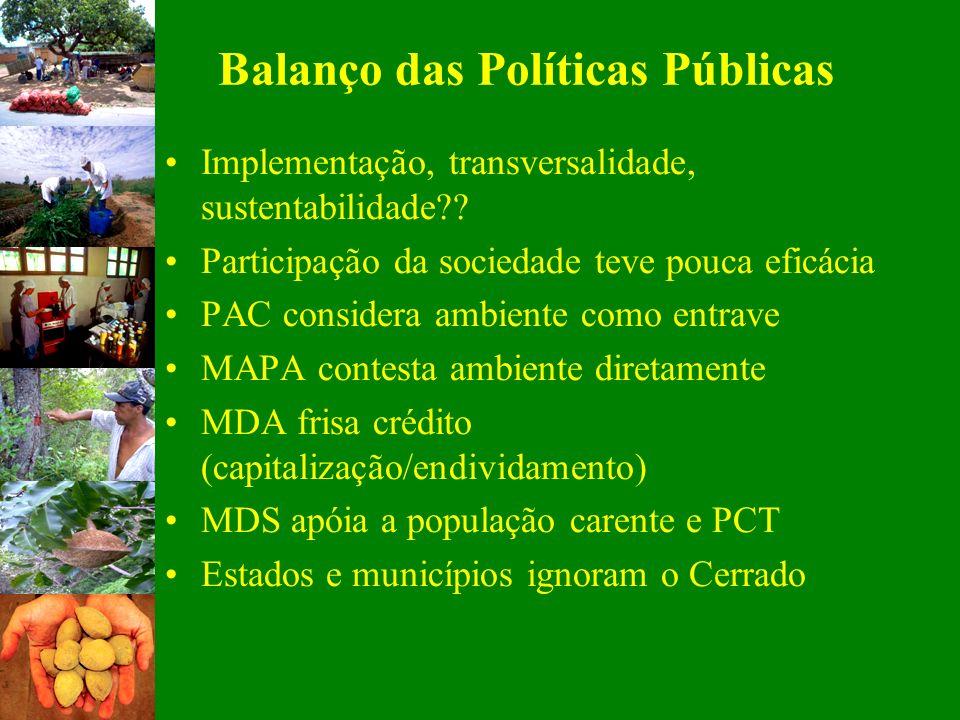 Balanço das Políticas Públicas