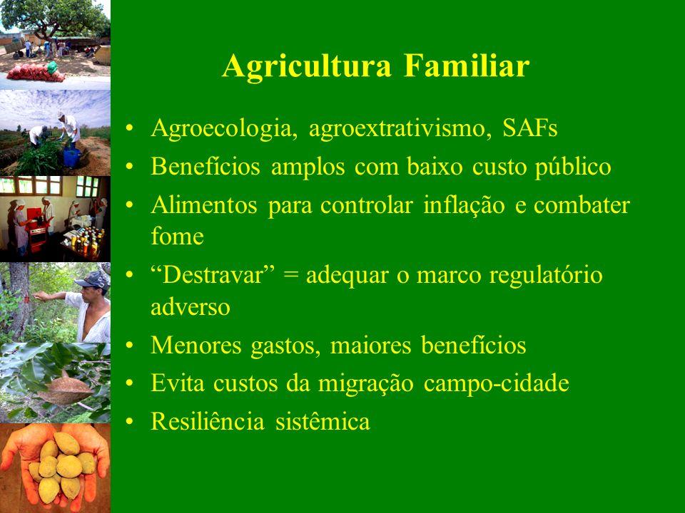 Agricultura Familiar Agroecologia, agroextrativismo, SAFs