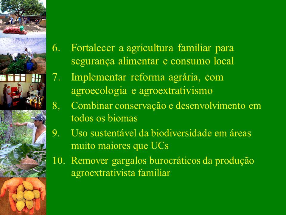 7. Implementar reforma agrária, com agroecologia e agroextrativismo