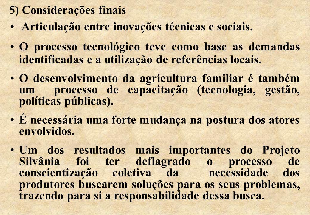 5) Considerações finais