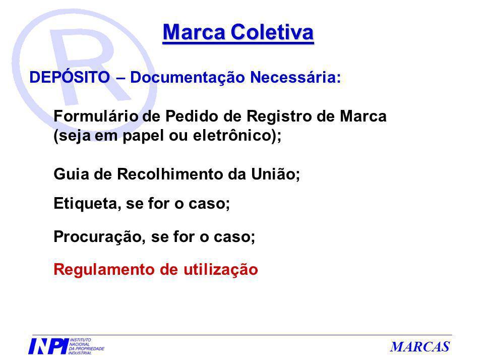 Marca Coletiva DEPÓSITO – Documentação Necessária:
