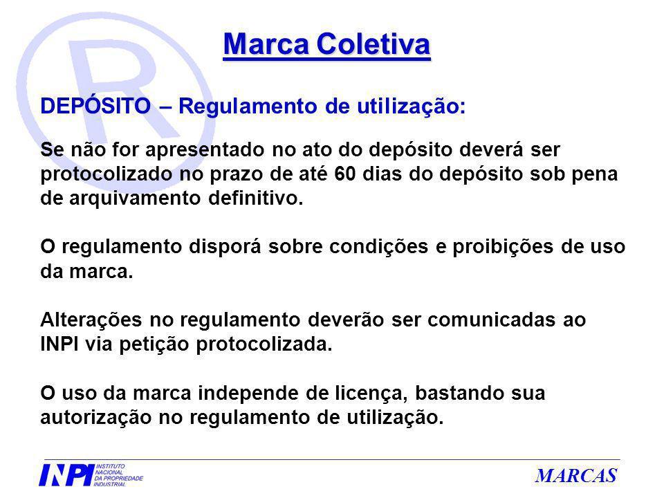 Marca Coletiva DEPÓSITO – Regulamento de utilização:
