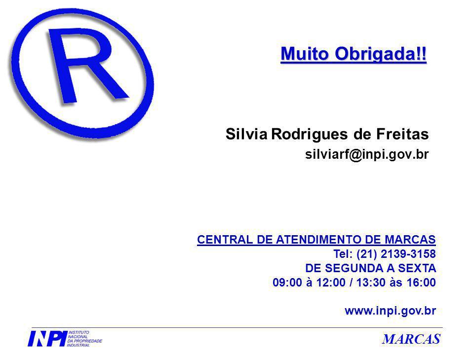 Muito Obrigada!! Silvia Rodrigues de Freitas silviarf@inpi.gov.br