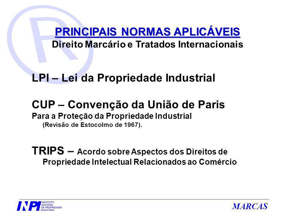 LPI – Lei da Propriedade Industrial CUP – Convenção da União de Paris