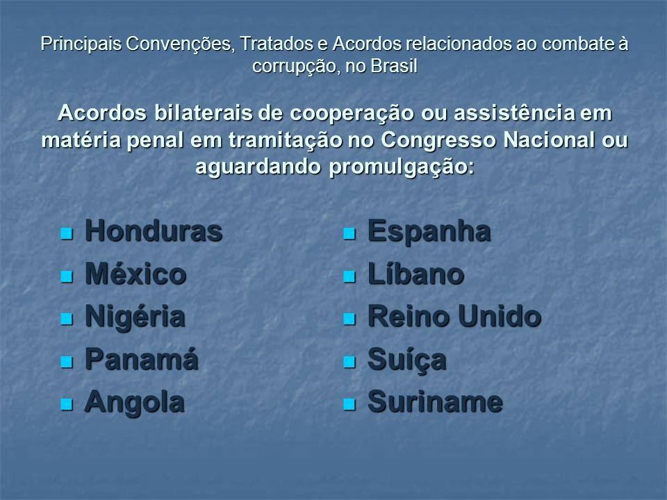 Honduras Espanha México Líbano Nigéria Reino Unido Panamá Suíça Angola
