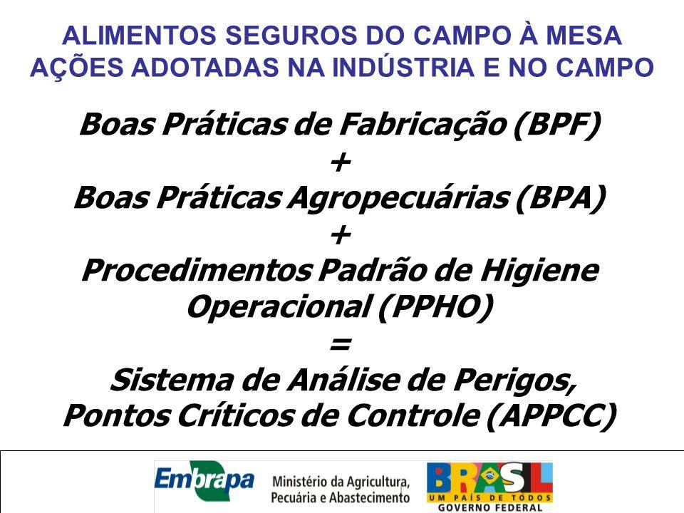ALIMENTOS SEGUROS DO CAMPO À MESA AÇÕES ADOTADAS NA INDÚSTRIA E NO CAMPO