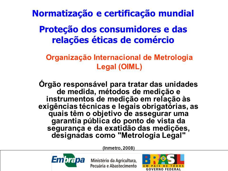 Normatização e certificação mundial