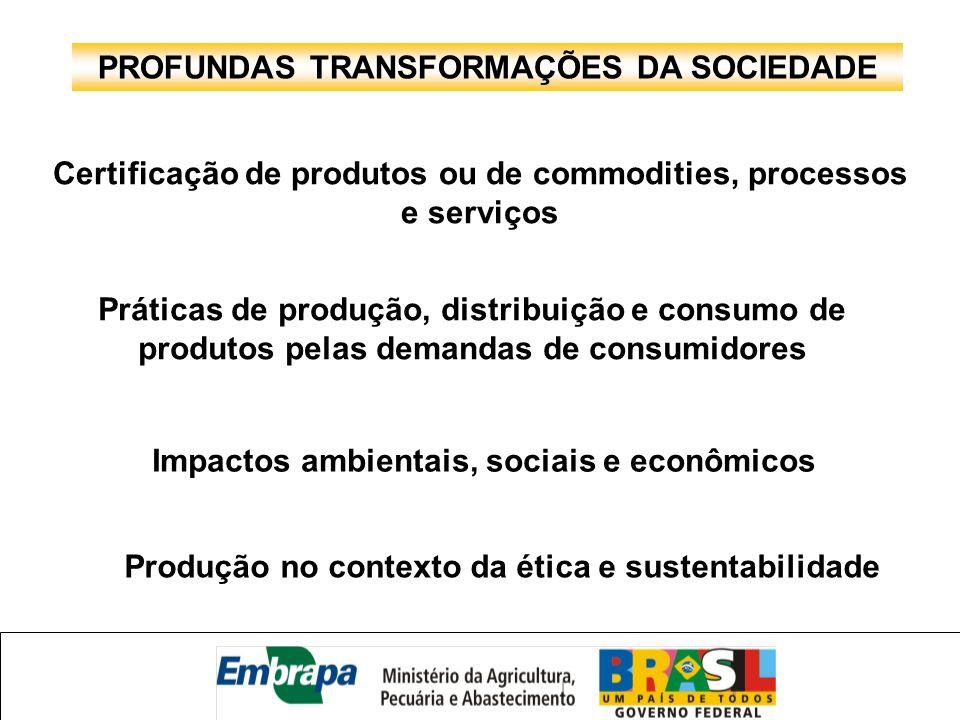 PROFUNDAS TRANSFORMAÇÕES DA SOCIEDADE