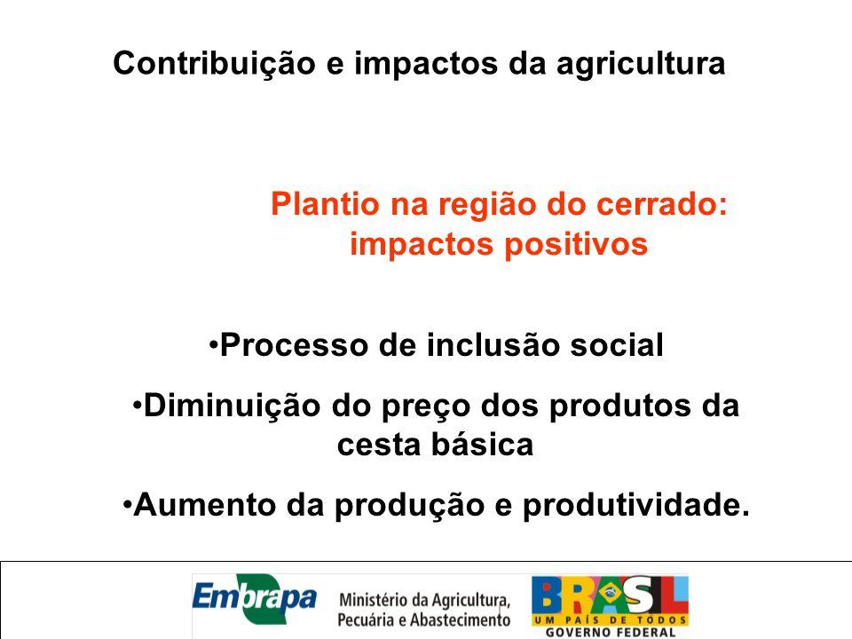 Contribuição e impactos da agricultura
