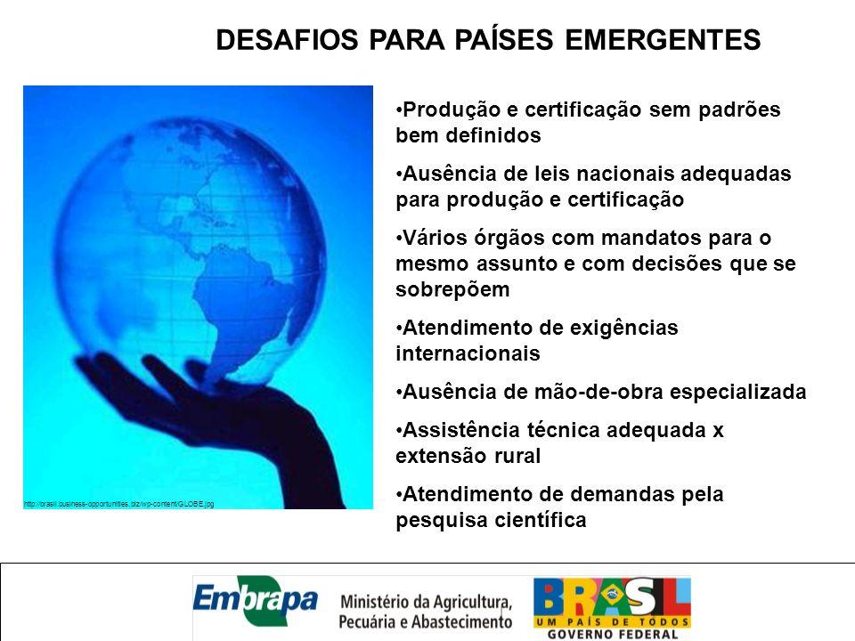 DESAFIOS PARA PAÍSES EMERGENTES