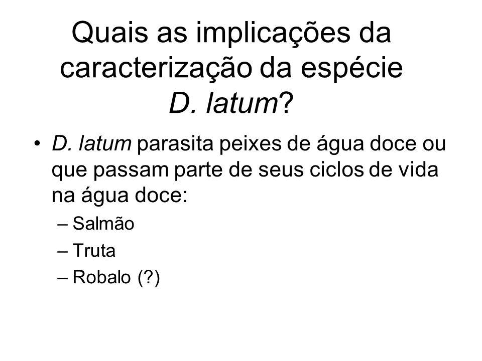 Quais as implicações da caracterização da espécie D. latum
