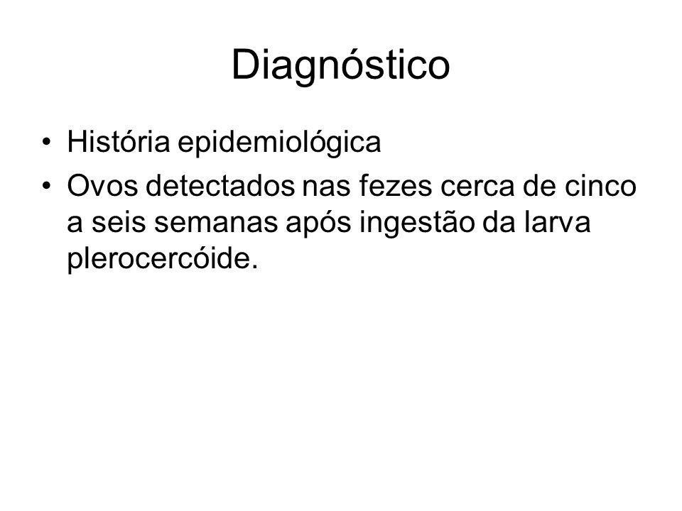 Diagnóstico História epidemiológica