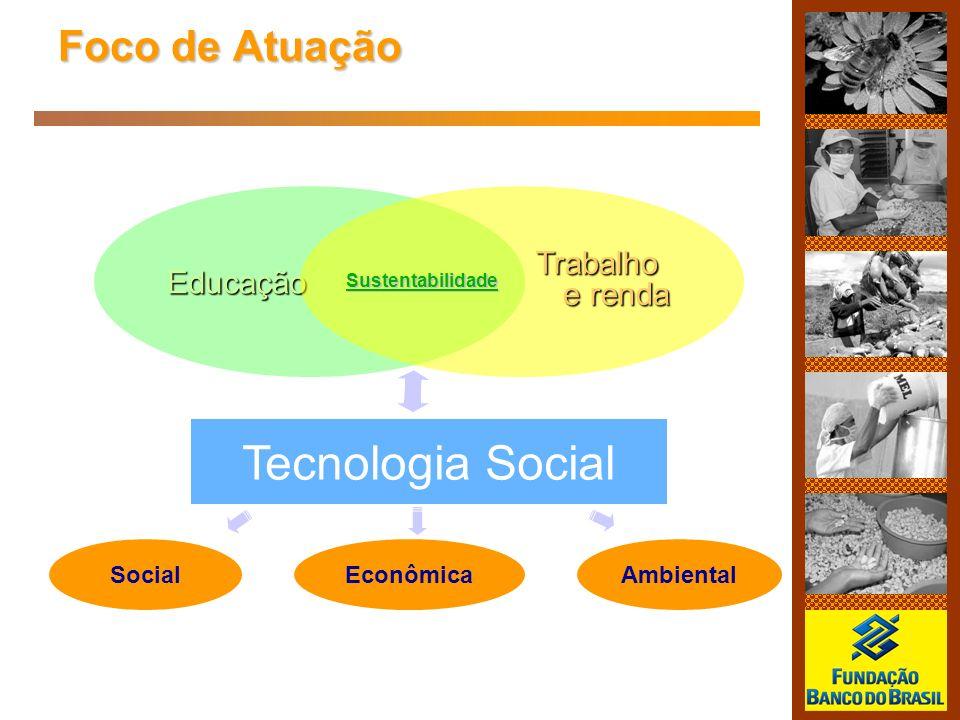 Tecnologia Social Foco de Atuação Trabalho Educação e renda Social