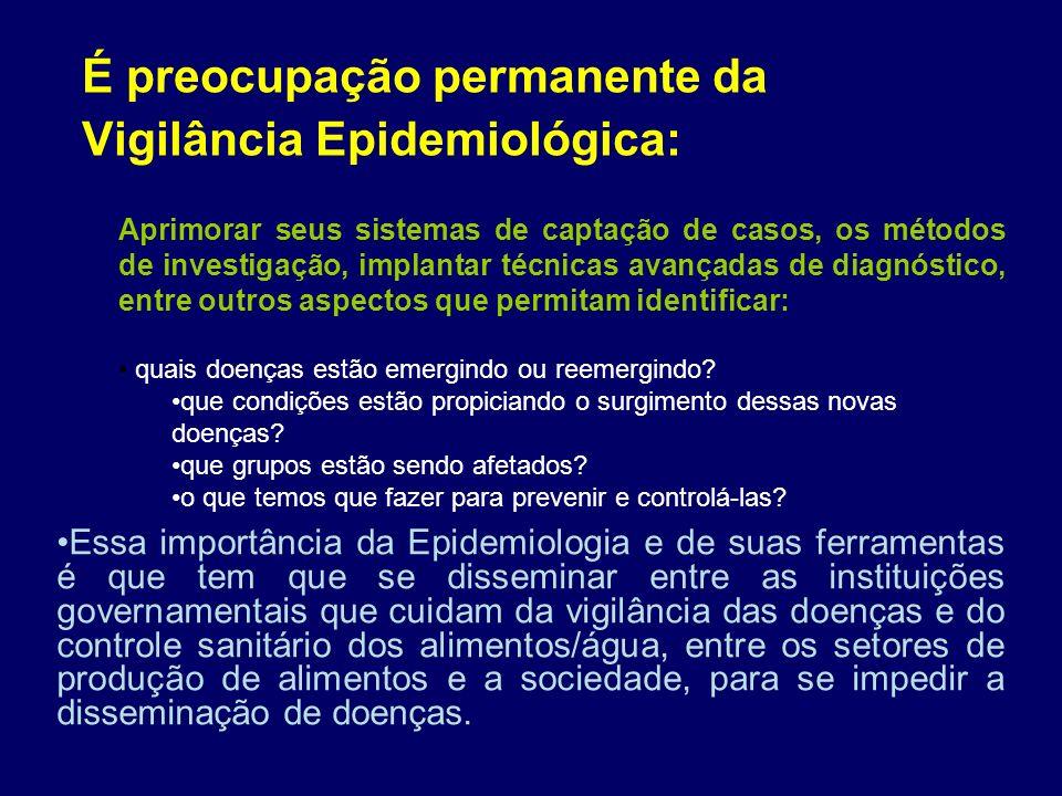 É preocupação permanente da Vigilância Epidemiológica: