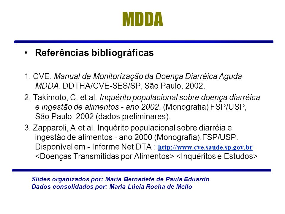MDDA Referências bibliográficas