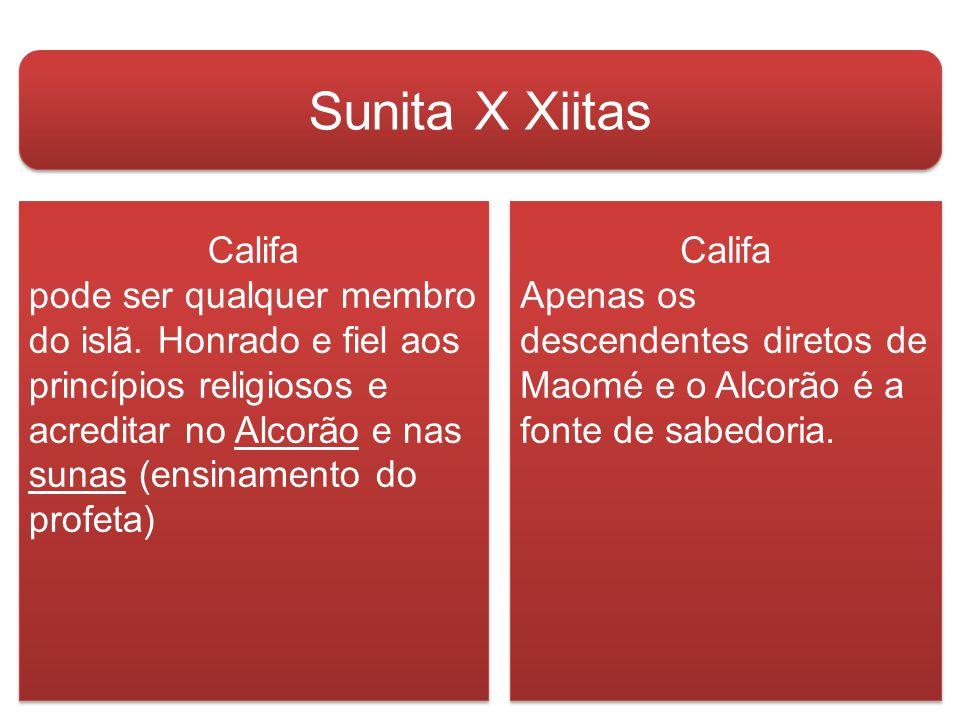 Sunita X Xiitas Califa Califa