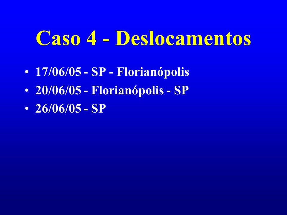 Caso 4 - Deslocamentos 17/06/05 - SP - Florianópolis