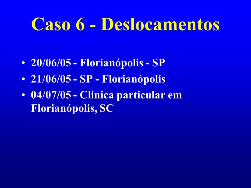 Caso 6 - Deslocamentos 20/06/05 - Florianópolis - SP
