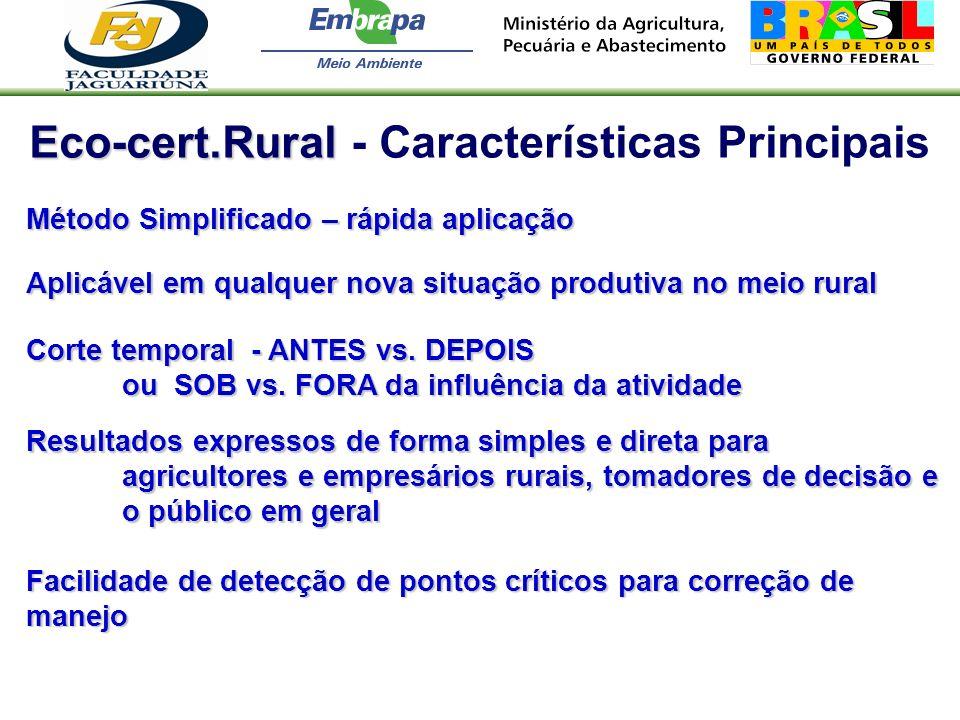 Eco-cert.Rural - Características Principais