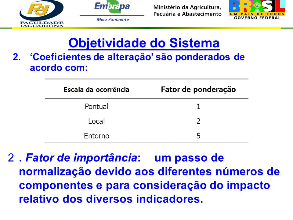 Objetividade do Sistema
