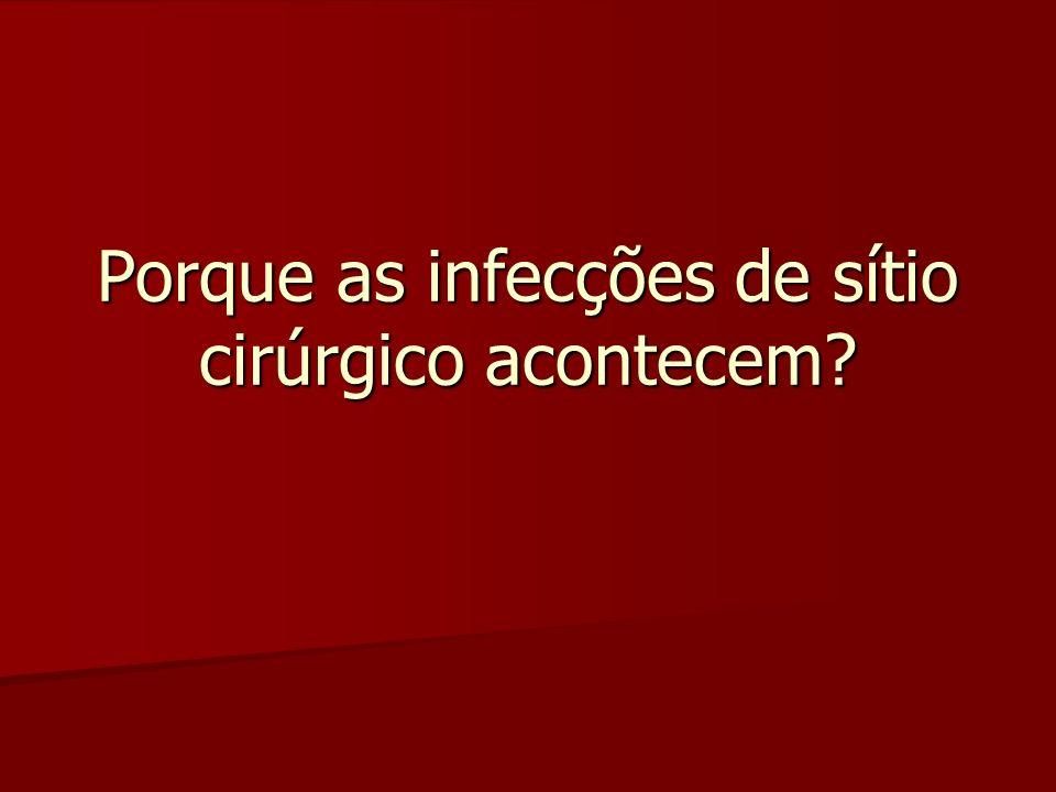 Porque as infecções de sítio cirúrgico acontecem