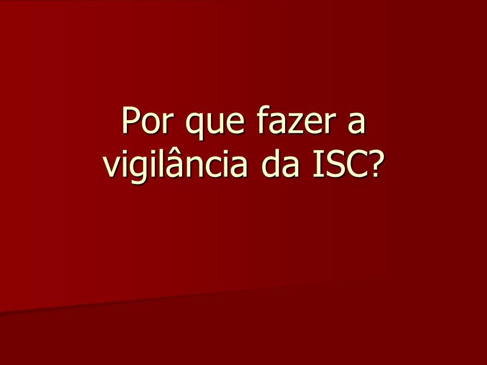 Por que fazer a vigilância da ISC