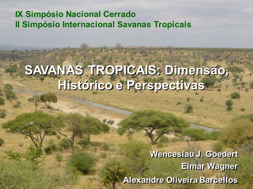 SAVANAS TROPICAIS: Dimensão, Histórico e Perspectivas