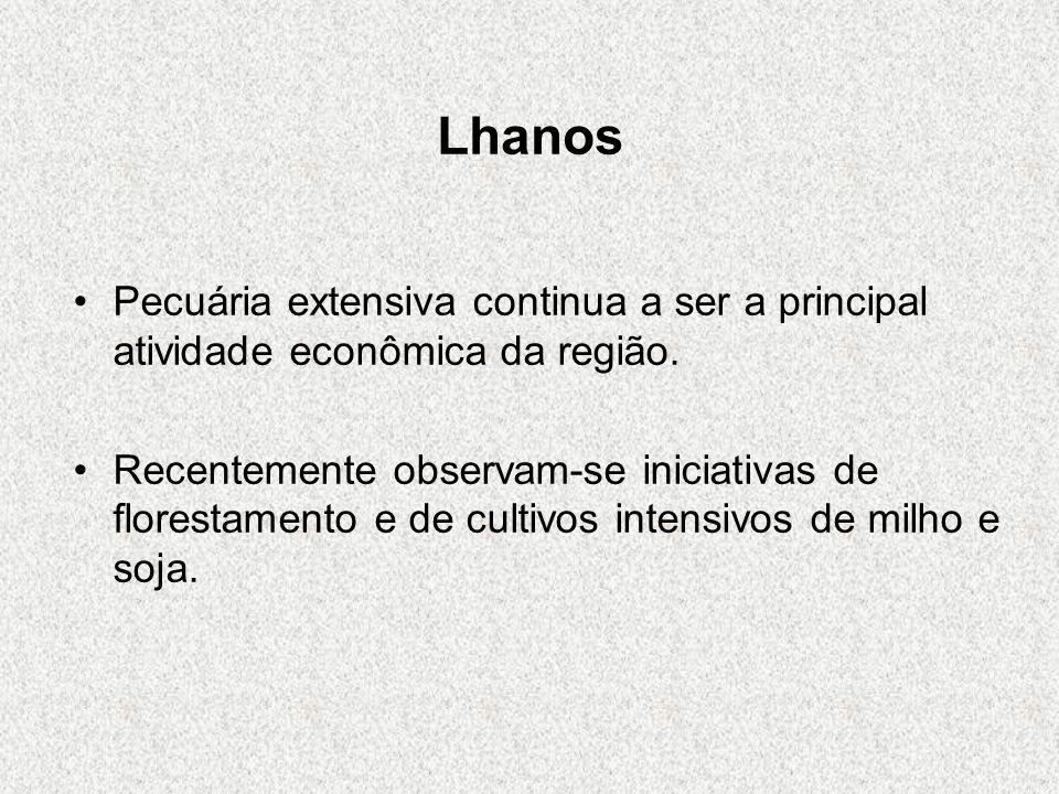 LhanosPecuária extensiva continua a ser a principal atividade econômica da região.