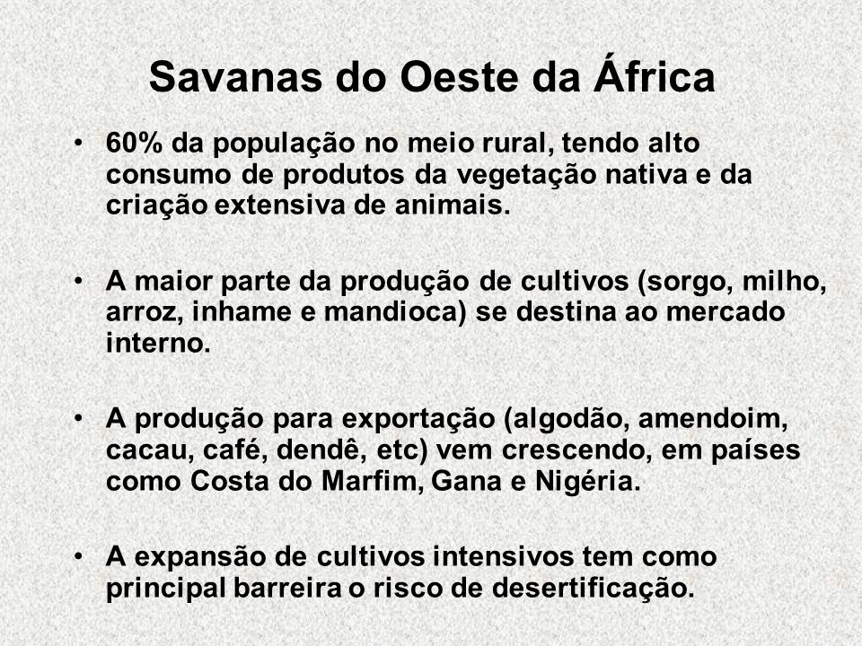 Savanas do Oeste da África