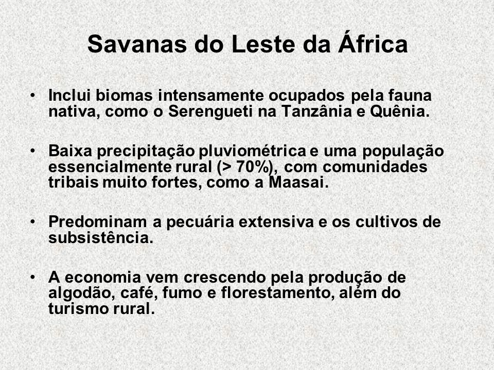Savanas do Leste da África