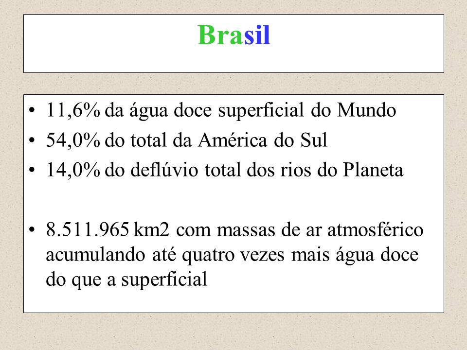 Brasil 11,6% da água doce superficial do Mundo