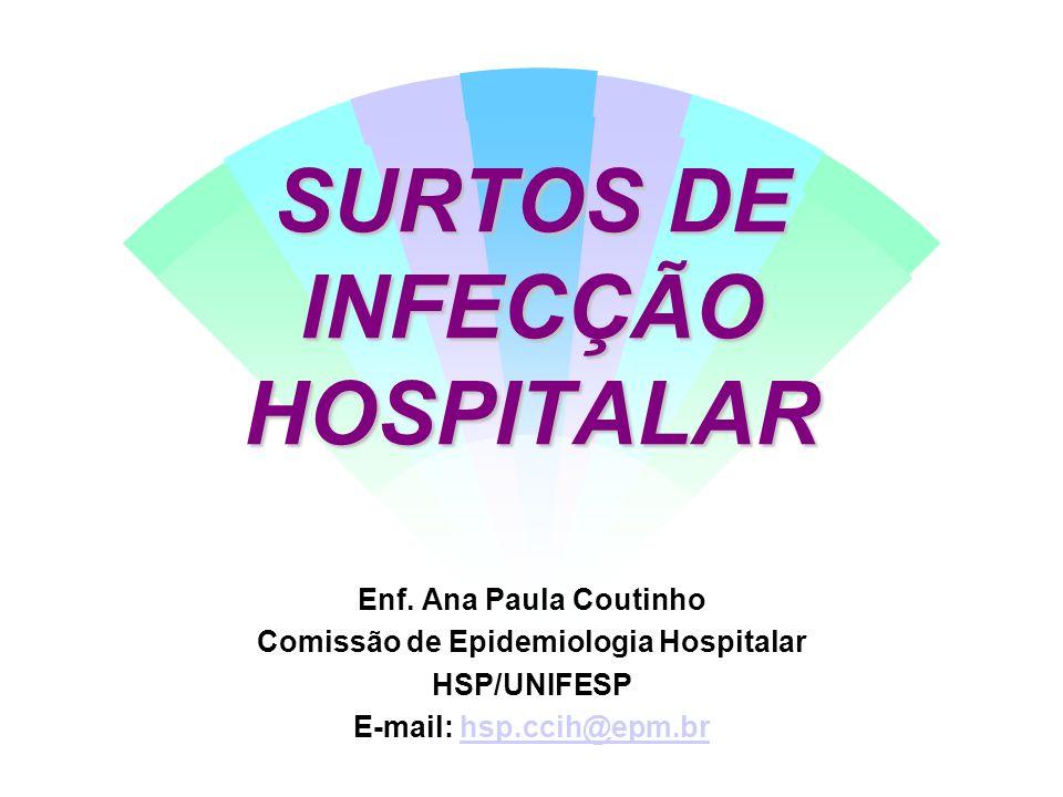 SURTOS DE INFECÇÃO HOSPITALAR
