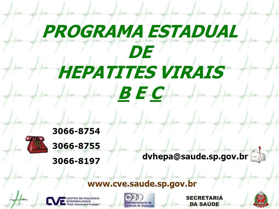 PROGRAMA ESTADUAL DE HEPATITES VIRAIS B E C