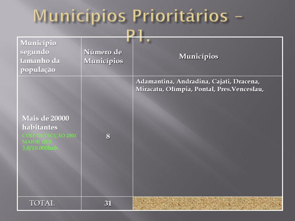 Municípios Prioritários – P1.