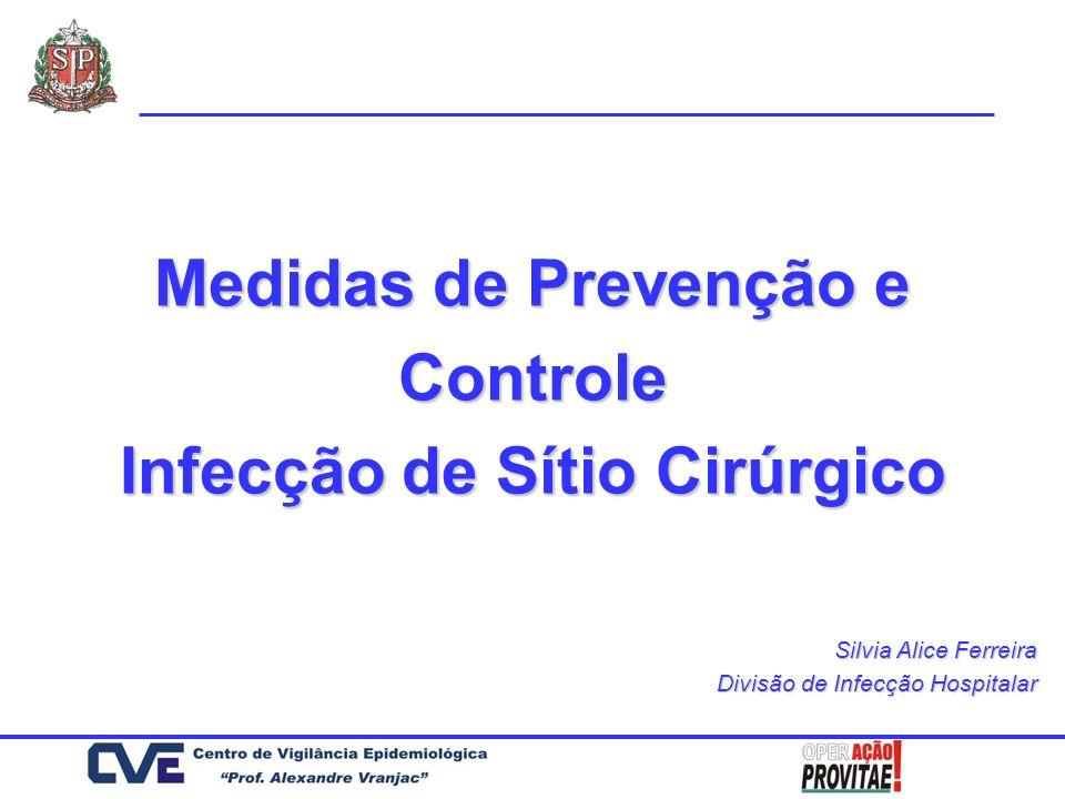 Medidas de Prevenção e Controle Infecção de Sítio Cirúrgico
