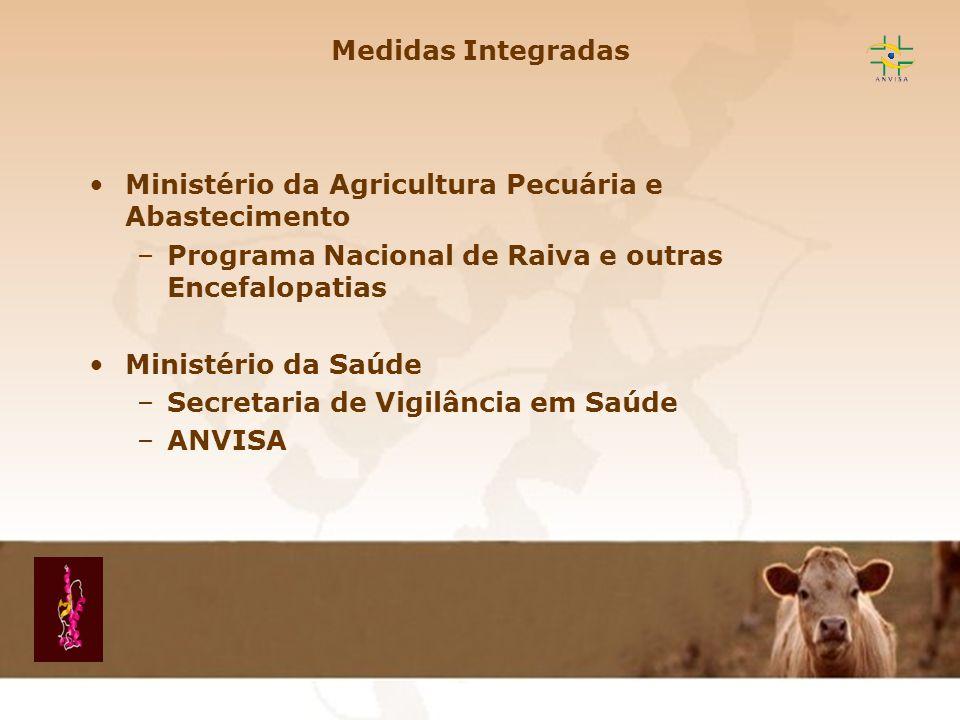Medidas Integradas Ministério da Agricultura Pecuária e Abastecimento. Programa Nacional de Raiva e outras Encefalopatias.