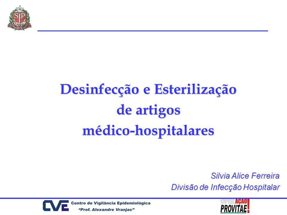 Desinfecção e Esterilização de artigos médico-hospitalares