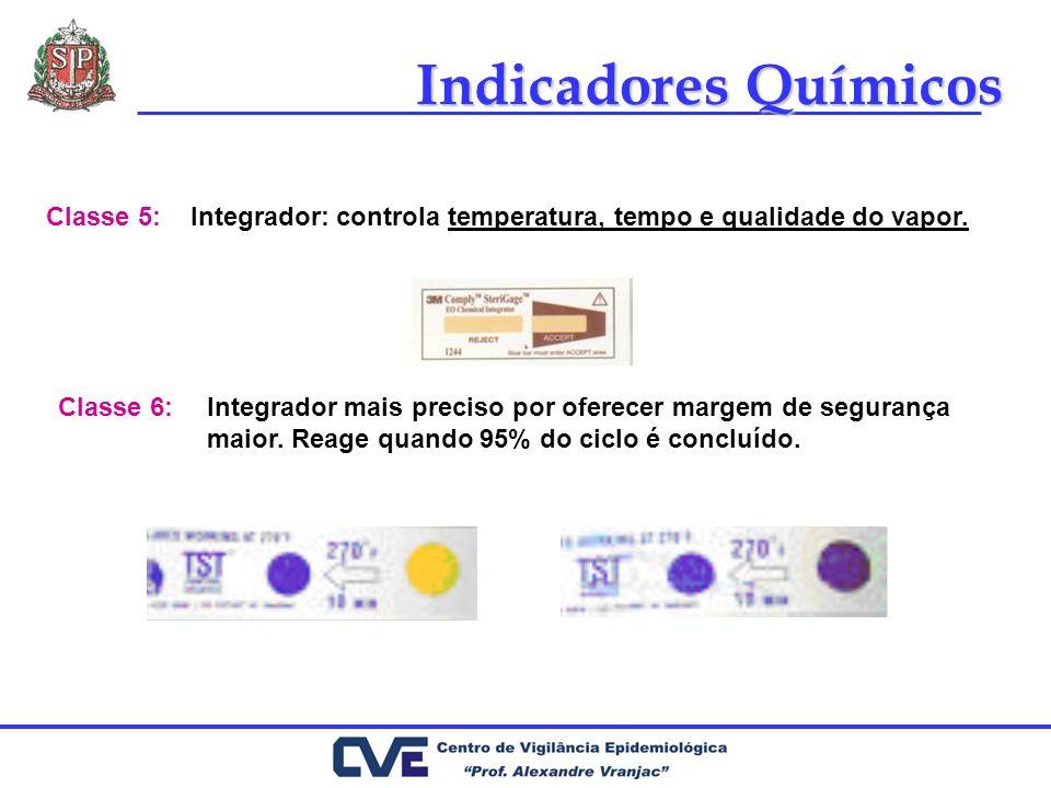 Integrador: controla temperatura, tempo e qualidade do vapor.