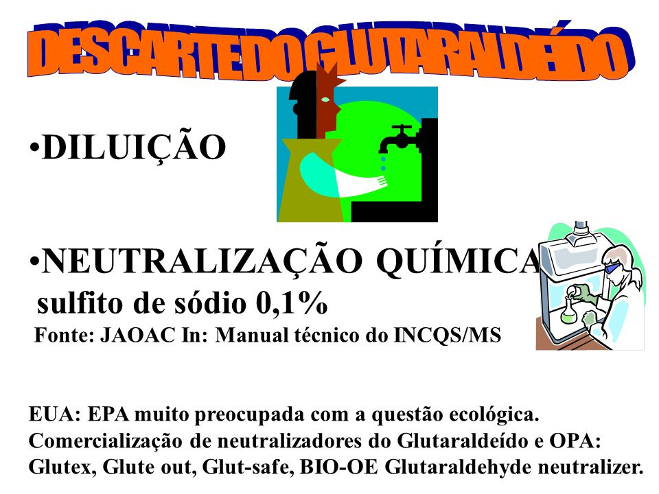 DESCARTE DO GLUTARALDEÍDO
