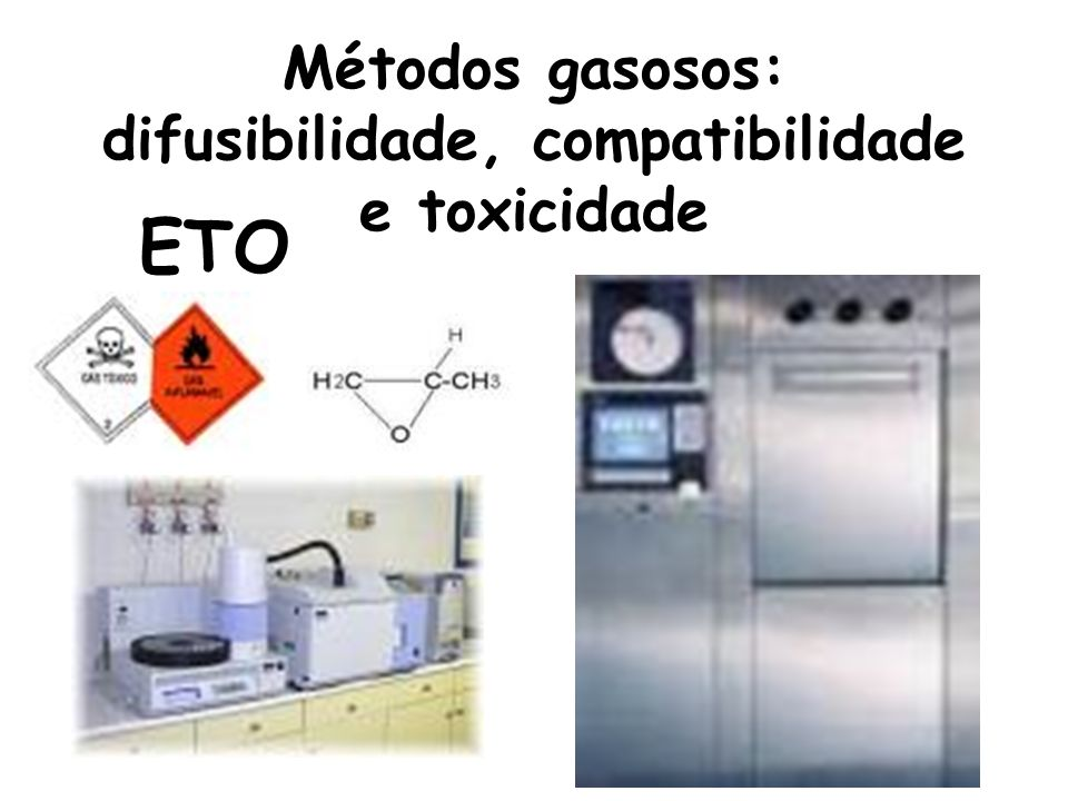 Métodos gasosos: difusibilidade, compatibilidade e toxicidade