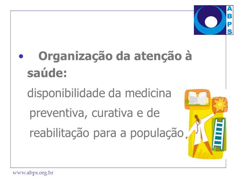 Organização da atenção à saúde: