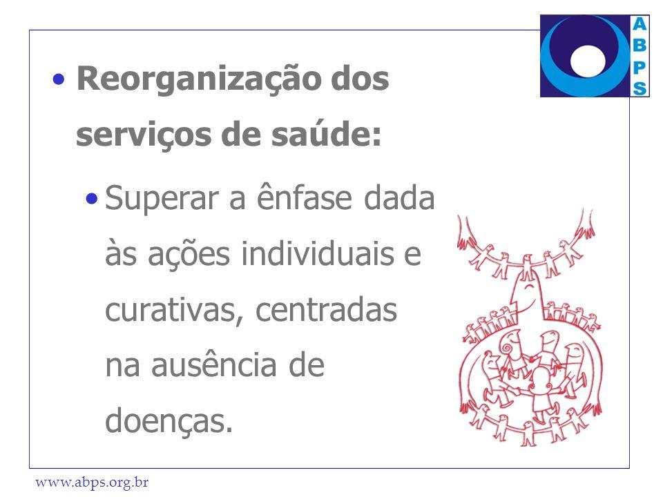 Reorganização dos serviços de saúde: