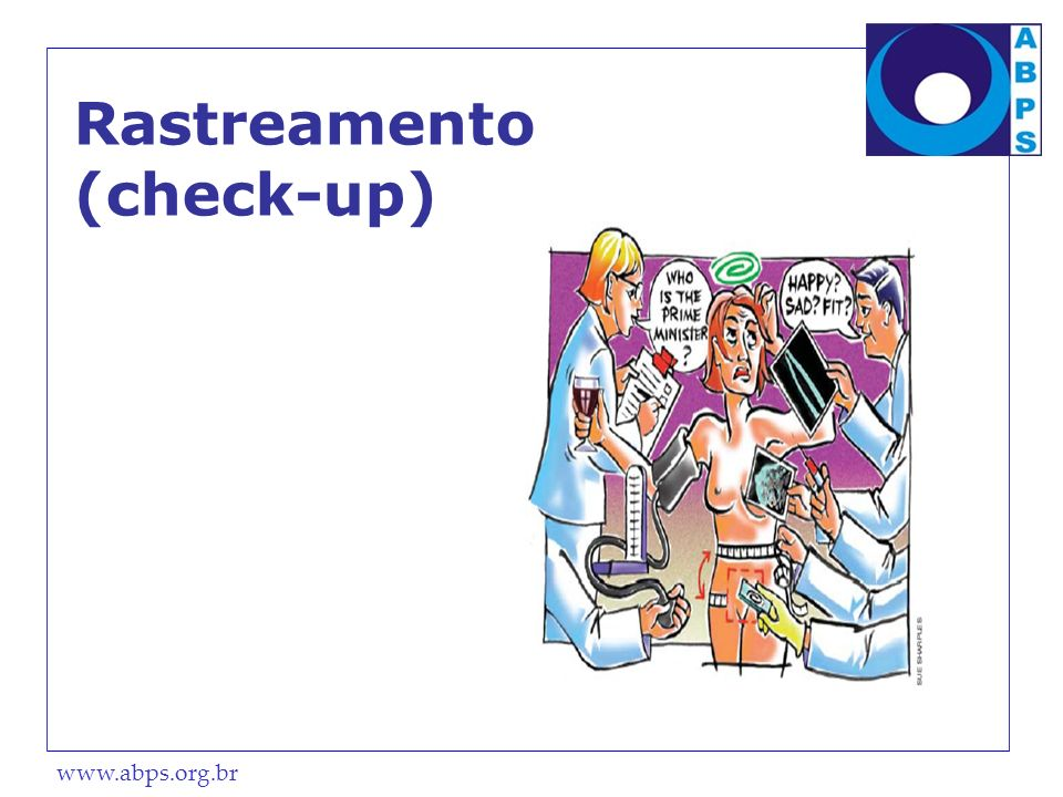 Rastreamento (check-up)