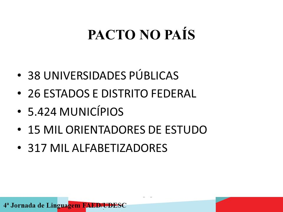 PACTO NO PAÍS 38 UNIVERSIDADES PÚBLICAS 26 ESTADOS E DISTRITO FEDERAL