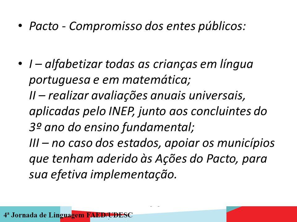 Pacto - Compromisso dos entes públicos: