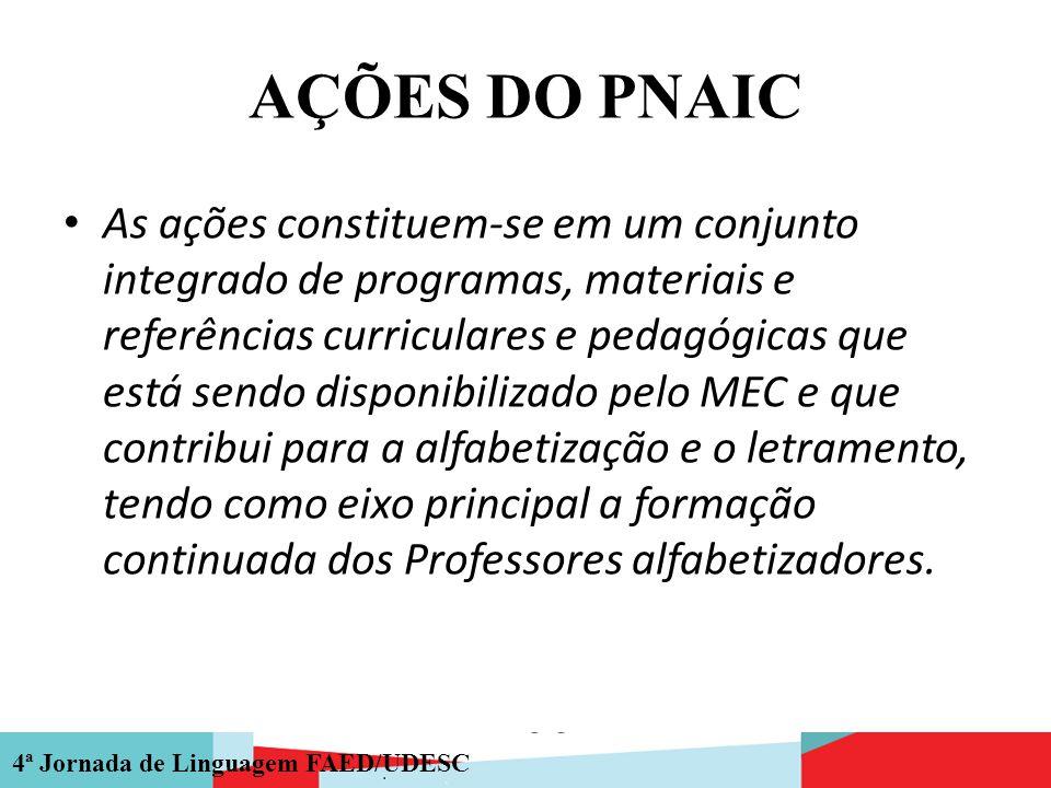 AÇÕES DO PNAIC
