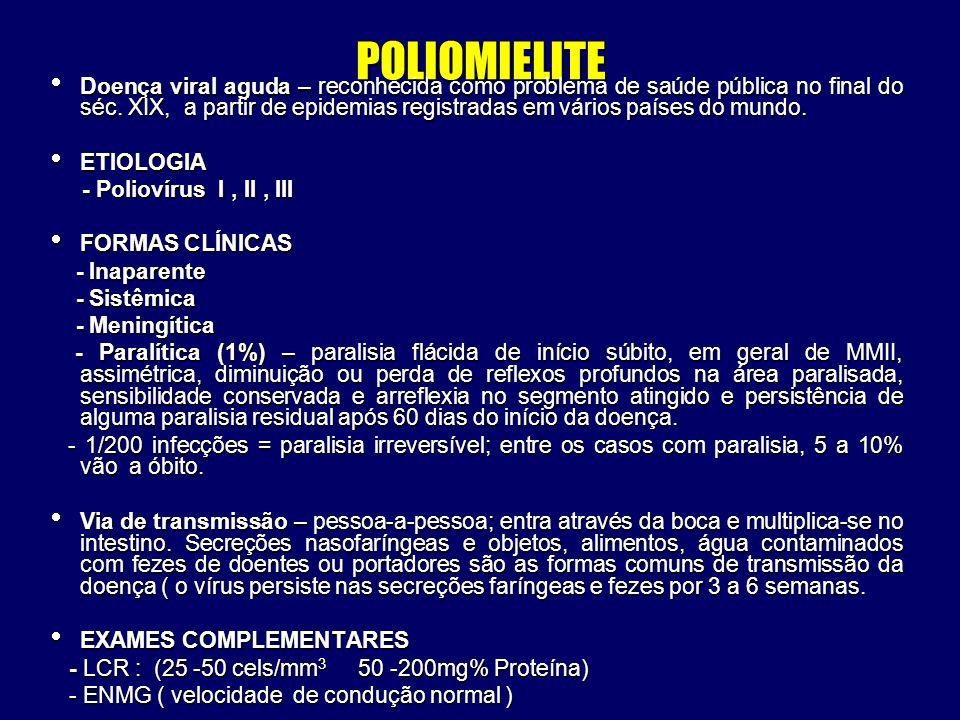 POLIOMIELITE