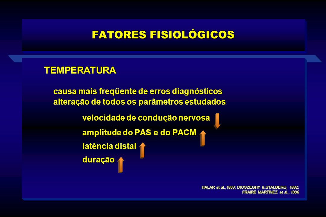 FATORES FISIOLÓGICOS TEMPERATURA