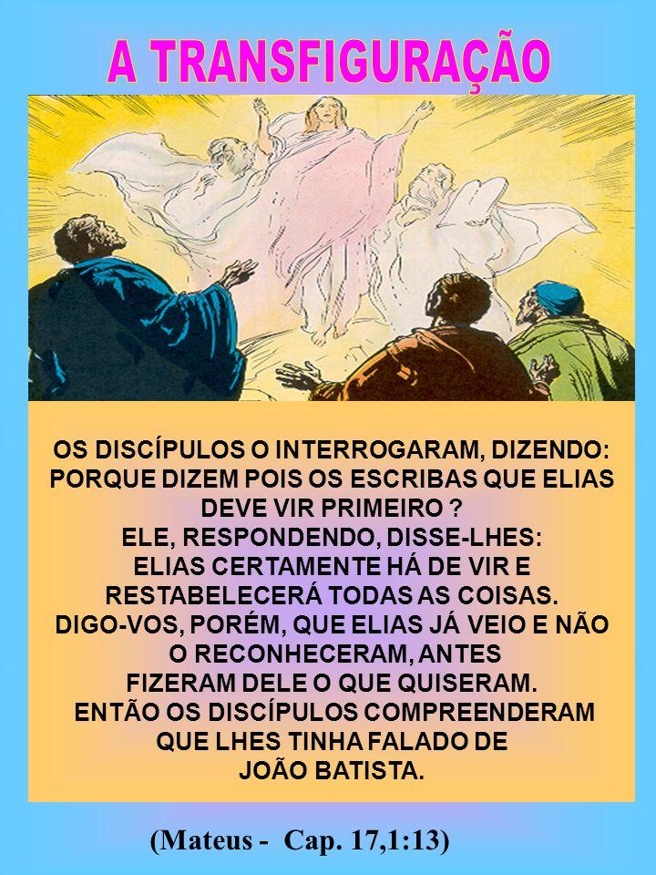 A TRANSFIGURAÇÃO (Mateus - Cap. 17,1:13)