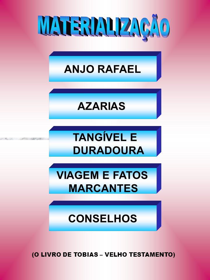 MATERIALIZAÇÃO ANJO RAFAEL AZARIAS TANGÍVEL E DURADOURA VIAGEM E FATOS